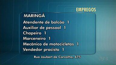 Veja as vagas de emprego em Maringá - E também em cidades da região