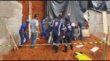 Homem morre soterrado durante obra residencial em Guapé (MG) - Homem morre soterrado durante obra residencial em Guapé (MG)