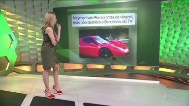 Neymar bate Ferrari antes de viagem, não se machuca, e vai jogar hoje pelo Barcelona - Jogador passa bem e não se feriu