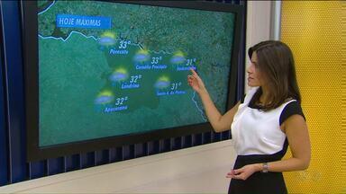 Semana começa cinzenta e com possibilidade de chuva - Na segunda-feira abafada o calor passa dos 30 graus em Londrina e região, e tem previsão de pancadas de chuva até quarta-feira.