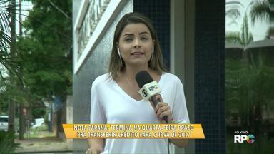 Termina na quarta-feira prazo pra transferir crédito do Nota Paraná para o IPVA de 2017 - Para saber como fazer a transferência é só acessar o g1.com.br/pr/nn