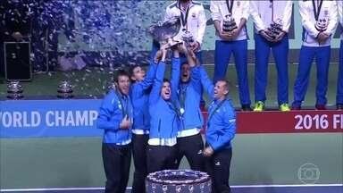 Argentina vence a Croácia e conquista o título da Copa Davis - Argentina vence a Croácia e conquista o título da Copa Davis