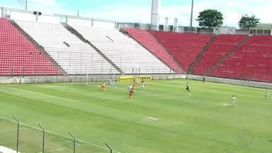 Tupynambás empata em Sete Lagoas e conquista título da Segunda Divisão - Baeta sofre gol com dois minutos de jogo contra o Coimbra na Arena do Jacaré, mas conta com cabeçada certeira de Cassiano na etapa final para soltar grito de campeão