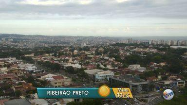 Confira a previsão do tempo para terça-feira (6) na região de Ribeirão Preto - Segundo meteorologistas, a temperatura máxima deve ser de 33ºC.