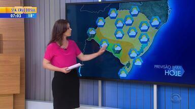 Tempo: chuva retorna ao RS no final desta terça-feira (6) - Chuva deve começar pela Região da Fronteira.