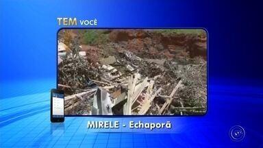 Moradora reclama de problema de limpeza em Echaporã - A Mirele disse que quer solução para um problema de limpeza em Echaporã, próximo da chácara Santa Maria da Serra. Ela gravou um vídeo contando o caso.