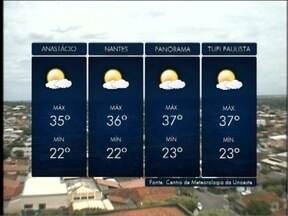 Calor predomina no Oeste Paulista - Veja as previsões para algumas cidades.