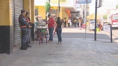 Em Macapá, policiamento nas áreas comerciais e próximas de bancos foi aumentado - Além da Polícia Militar (PM), as ações de segurança terão o apoio da Polícia Civil e do Corpo de Bombeiros.