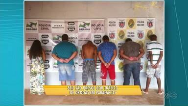 Cinco homens e uma mulher são presos por tráfico de drogas em Paranacity - População também ajudou fazendo denúncias pelo telefone 181