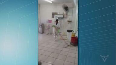 Posto de Saúde da Caneleira fica alagado em dias de chuva - Prefeitura de Santos afirma que já fez o orçamento para arrumar telhado.