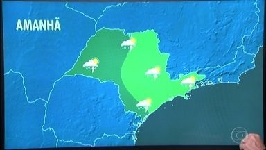 Sábado (10) será de calor e com pancadas em todo o estado - Na capital, o dia começa com 19 graus e a máxima chega aos 30 graus. Entre o oeste e o sul de São Paulo, as pancadas de chuva podem chegar a qualquer hora.
