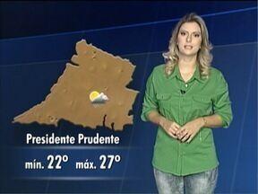 Débora Andreatto antecipa a previsão do tempo para este sábado - Saiba como ficam as temperaturas no Oeste Paulista.