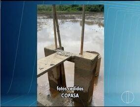 Moradores quebram estação e deixa Cristália sem água - Segundo a Copasa, eles protestam contra a qualidade da água.