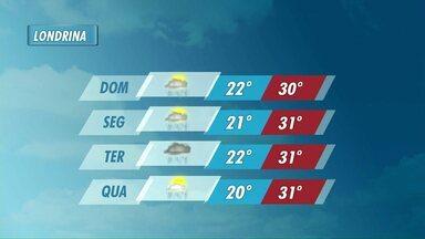 Semana começa com chuvas e calor - Confira na previsão do tempo.