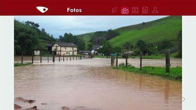 Após chuvas, comunidade de Figueira fica alagada em Ibitirama, ES - Barreiras caíram, e pontes foram levadas pela correnteza.