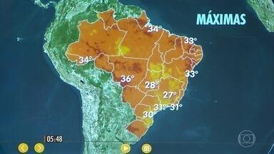 Confira como fica a previsão do tempo nesta terça-feira (13) em todo o Brasil - Em Belo Horizonte, uma tempestade castigou a região metropolitana.