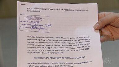 Paulo Lemos do PSOL protocolou pedido de cassação do mandado do deputado Moisés Souza - O deputado está preso desde o fim de dezembro.