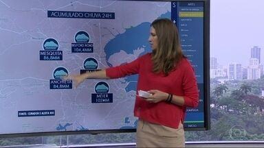 Muito calor e frente fria provocam fortes chuvas no Rio - Os locais mais atingidos pelas chuvas foram Belford Roxo e o Méier.