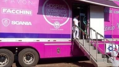 Carreta do Hospital de Câncer de Barretos está em Ponta Porã - A intenção é ajudar a reduzir a fila de mulheres à espera de mamografia.