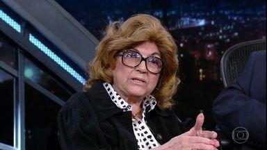 Maria Eugênia de Castro responde perguntas da plateia - Tatá Werneck também elabora questão à astróloga