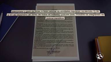 """Governo do Estado publica novas medidas de segurança durante a """"Operação Padrão"""" - Documento determina a suspensão das férias de policiais até o fim do ano e vale para as polícias civil, militar e científica."""