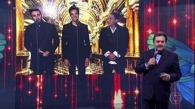 Faustão anuncia concorrentes na categoria Cantor do Ano - Concorrem Luan Santana, Tiago Iorc e Wesley Safadão.