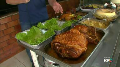 Panificadoras lucram fazendo pratos prontos pra ceia de natal - O kit completo vem com carne, farofa e até sobremesa.