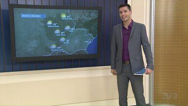 Previsão de calor para o domingo de Natal - Há possibilidade de pancadas de chuva ao longo do dia, mas muito pouco.