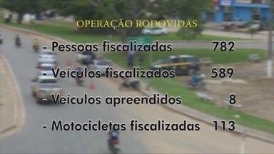 Operação Rodovida fiscaliza mais de 700 condutores - A medida é para evitar acidentes nas rodovias.