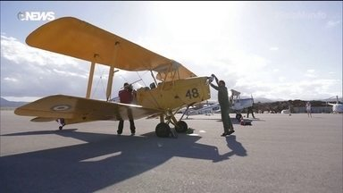 Antigos aviões de guerra fazem corrida da Grécia até a África do Sul
