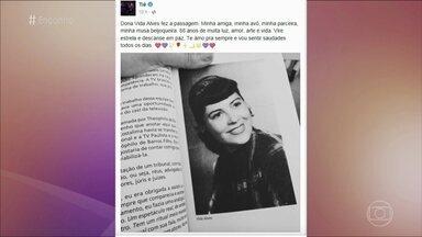 Relembre participação de Vida Alves no 'Encontro' - Atriz que deu o primeiro beijo na televisão brasileira morreu aos 88 anos em São Paulo