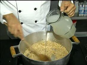 Sabores do Campo ensina como prepara uma receita de risoto de bacalhau com lentilha - Sabores do Campo ensina como prepara uma receita de risoto de bacalhau com lentilha