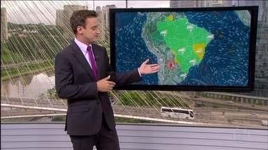 Veja a previsão do tempo para esta terça-feira (10) em todo o Brasil - Tem previsão de mais chuva para o interior de São Paulo. As pancadas duram pouco, mas podem deixar muitos estragos.