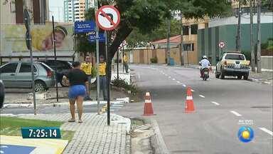 Avenida de Manaíra tem sentido único a partir desta terça, em João Pessoa - Av. Monteiro da Franca muda para dar segurança a pedestres, diz Semob. Corredor se estende da Av. Flávio Ribeiro Coutinho até a Av. Rui Carneiro.