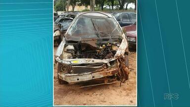 Jovem capota carro e morre em acidente na PR-554 - Em um outro acidente um rapaz de 22 anos ficou ferido