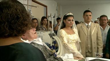 Com pai internado, noiva celebra casamento em hospital em São Luís - Com pai internado, noiva celebra casamento em hospital em São Luís