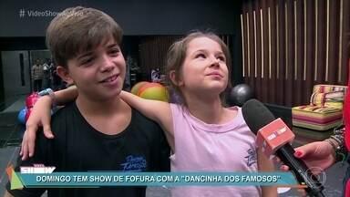 """Domingo tem show de fofura com a """"Dancinha dos Famosos"""" - As crianças se jogaram no samba nos ensaios para a final"""