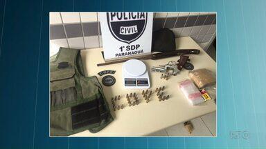 Suspeitos de assalto a carro forte no litoral do estado são presos em Paranaguá - O carro usado pelos bandidos na ação tinha um suporte para arma de grosso calibre.