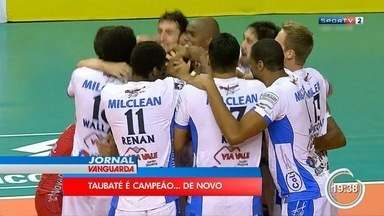 Taubaté derrota Sesi em Campinas e leva bicampeonato da Copa Brasil - Desfalcado de Lucarelli, time de Lucas Lóh e Wallace brilha no Taquaral e confirma triunfo por 3 a 0.