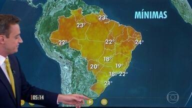 Confira a previsão do tempo para a terça-feira (24) - Veja como fica o tempo em todo país.