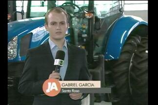 Otimismo nas concessionárias de máquinas agrícolas - Agricultores estão investindo na compra por causa da boa safra.