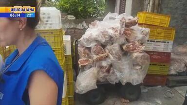 Toneladas de carnes são apreendidas em minimercado em Porto Alegre - Três toneladas impróprias para consumo estavam em local na Zona Norte.
