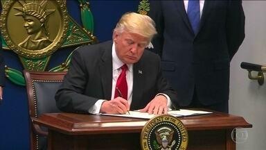 Corte de apelações vai julgar lei anti-imigração de Trump - Autoridades e grandes empresas enviaram à corte texto contra decreto. Após juiz suspender decreto, 60 mil vistos voltaram a ter validade.