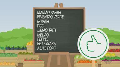 'Barato da Feira' mostra hortaliças e verduras que estão mais baratas - Mamão papaia, pimentão verde, goiaba, figo, limão Taiti e melão estão com o preço em baixa.