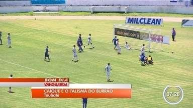 Atacante Caique vira xodó da torcida do Taubaté na série A-2 - Reserva, jogador já fez três gols na competição.