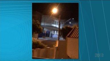 Câmeras de segurança flagram momento bandidos explodem agências bancárias - Os crimes foram em Porecatu, no norte do estado.