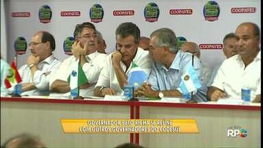 Governador Beto Richa visita Show Rural - Ele se reuniu com os governadores de Santa Citarina, Rio Grande do Sul e de Mato Grosso do Sul.