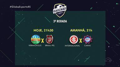 Confira datas e horários dos jogos da terceira rodada do Gauchão - Assista ao vídeo.