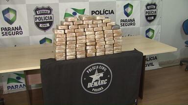 70 quilos de crack são apreendidos em Guaíra - A droga estava escondida no fundo falso de um caminhão.