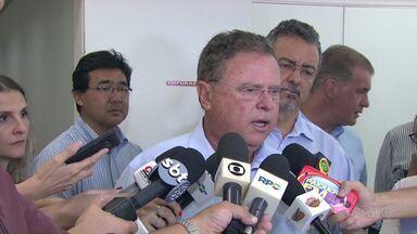 Funcionários da Embrapa pedem mais recursos para Ministro da Agricultura - Blairo Maggi esteve hoje em Londrina e conheceu a estrutura da empresa.